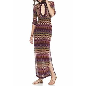 Free People Good Vibrations Crochet Maxi Dress XS